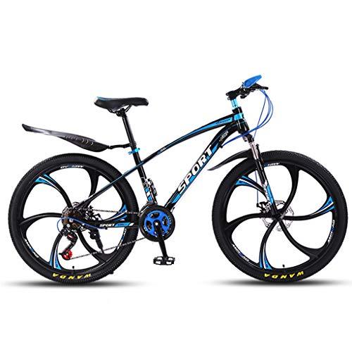 ZDZXC Bicicleta De Montaña 21 Velocidades 26 Pulgadas Suspensión Completa MTB Ruedas Resistentes De Una Pieza con Frenos Mecánicos De Doble Disco Delanteros Y Traseros para Carreteras Urbanas