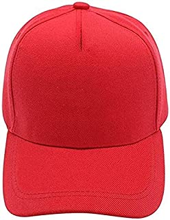 Durable Sun hat Baseball Cap,Durable Polyester Hat with Simple Stye(red)