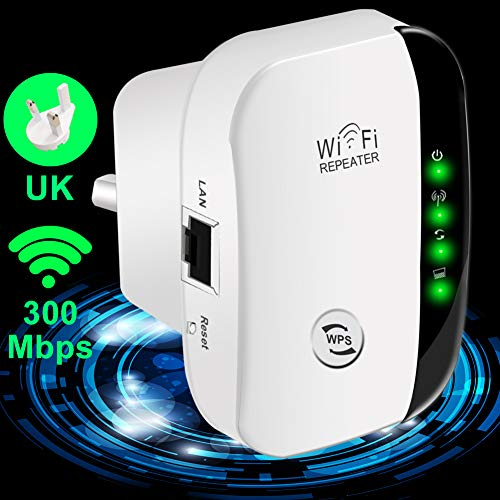 Yezala WiFi Range Extender WiFi Booster Wireless Repeater 2.4G Band up to 300 Mbps for High WiFi Coverage