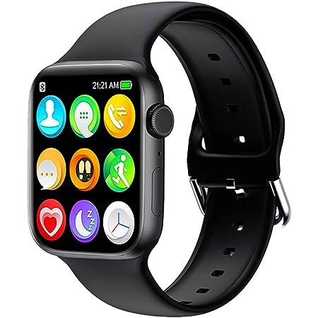 Reloj inteligente para teléfonos Android iOS, compatible con iPhone Samsung LG, HCHLQL 1.75 pulgadas con pantalla táctil Fitness Tracker Bluetooth Smartwatch con llamada/SMS/ritmo cardíaco/podómetro para hombres, mujeres y niños (negro)