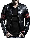 Leather Retail Faux Leather Jacket-M Black