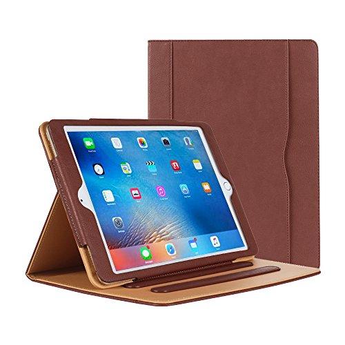 Danycase® Schutzhülle für iPad 2 iPad 3 iPad 4 Fall - Leder Ständer Folio Schutzhülle für Apple iPad 2/3/4case, mit mehreren Sichtwinkeln, Dokument Kartenfach(Braun)