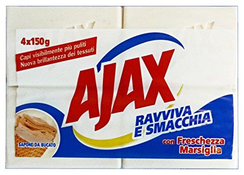 Set mit 15 AJAX Waschseife Marseille * 4 Stück 600 g Haushaltsreiniger