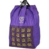 Harrison Howard Bolsa de heno para caballos de heno de alimentación lenta, duradera, de gran capacidad, color morado