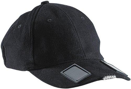 infactory Solar Kappe: LED-Baseball-Cap mit Solarspeicher (Solar Mütze)