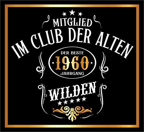 RAHMENLOS 3 St. Aufkleber Original Design: Selbstklebendes Flaschen-Etikett zum 60. Geburtstag: Mitglied im Club der Alten Wilden