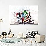 Geiqianjiumai Dibujos Animados Anime póster e Impresiones Lienzo Arte Pop Imagen de la Pared de la película escandinava Estilo nórdico guardería decoración para niños Pintura sin Marco 40x60 cm