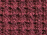 Waffel-Tweed-Baumwoll-Pullover-Strickstoff, rosa, Meterware