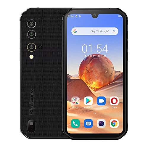 Outdoor Handy ohne Vertrag Blackview BV9900E, Android 10, Helio P90 6GB+128GB, 48MP Quad-AI-Kamera, IP68 Robustes Smartphone Wasserdicht, 5,84 Zoll FHD+ Gorilla-Glas 5, Drahtlose Ladung NFC Schwarz