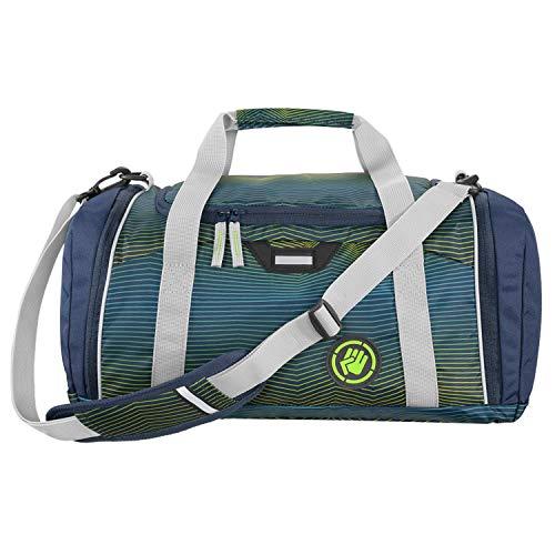 """Coocazoo Sporttasche SporterPorter """"Soniclights Green"""", grün, Nasswäschefach, Seitentasche, Schuhfach, Abnehmbarer, Verstellbarer Schultergurt, für Jungen ab der 5. Klasse, 20 Liter"""