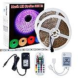 LED Band 10m SELIAN 5050 300led LED Streifen Licht RGB LED Strip Stripe Kit mit Netzteil 12V und Musik Fernbedienung LED Streifen für Feiertage Haushalt Küche Dekoration