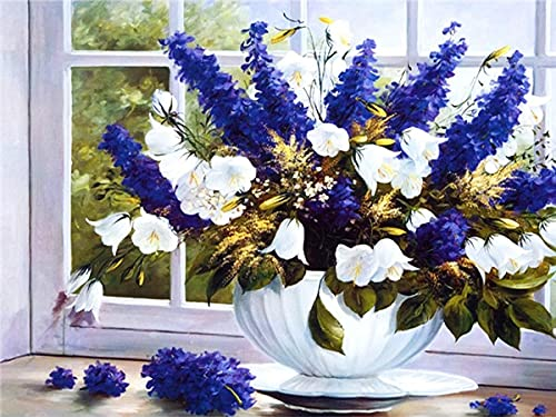 5D Peony Diamond Embroidery Flower Cross Stitch Diamond Mosaic Vase Rhinestone Artist Home Decoration Diamond Painting A16 60x80cm
