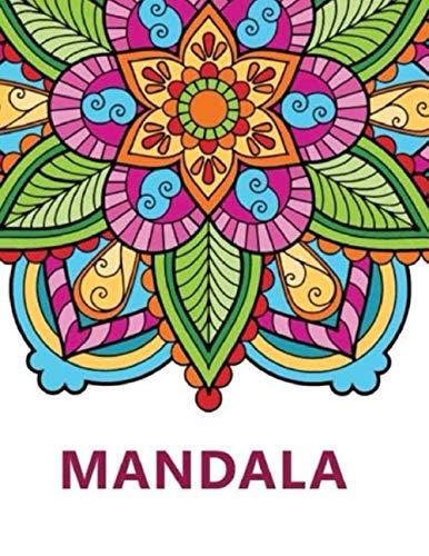 Mandala: Malbuch für Erwachsene | Mandala | Anti Stress, Entspannung Mit inspirierenden Zitaten Großformat 21,6 x 28 cm
