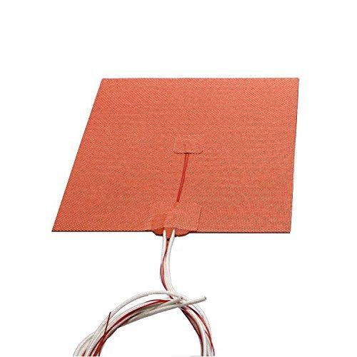 EE. UU. importación material. 200x 200mm, 500W 110V/24V, cubeta flexible Silicona Calentador Reprap Impresora 3d Prusa i3climatizada cama, 24V, Rojo
