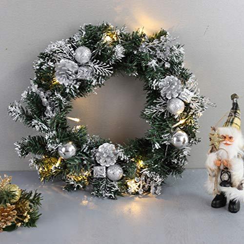 Lucoss 40 cm Guirlande de Noël Artificiels lumières LED Guir