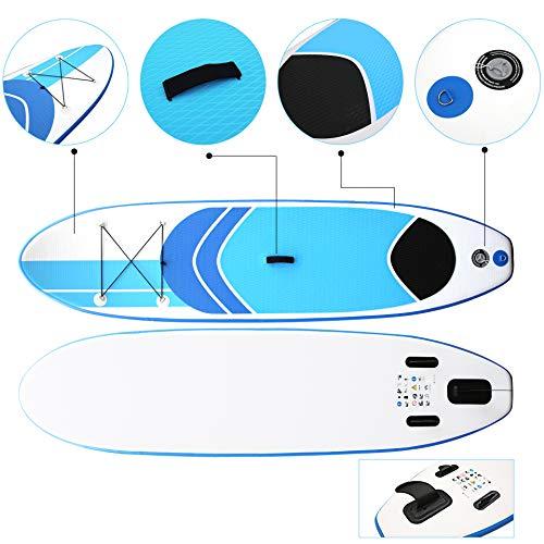 LLXLJ Stand-Up Paddle Board Sup Inflable Tabla de Surf esquí acuático Junta de Paddle Paddle Board Junta Kayak Inflable Barco 305 * 75 * 10 cm