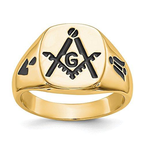 DIAMOND2DEAL INC Anillo de Oro Amarillo de 14 Quilates para Hombre