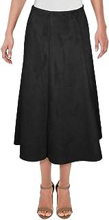 ALFANI Womens Black Below The Knee A-Line Skirt AU Size:6