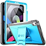 ZtotopCase for New iPad 10.9 Inch 2020/ iPad Air 4th Generation Case, Built-in Screen Protector, Dual Layer Shockproof Full Protective Cover with Pencil Holder Support iPad Pencil Charging -Blue