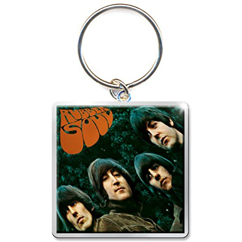 The Beatles Rubber Soul Album Photo Print Keychain