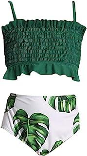 Girl's Bikini Set Crop Flounce Two Piece Swimsuits Kids...