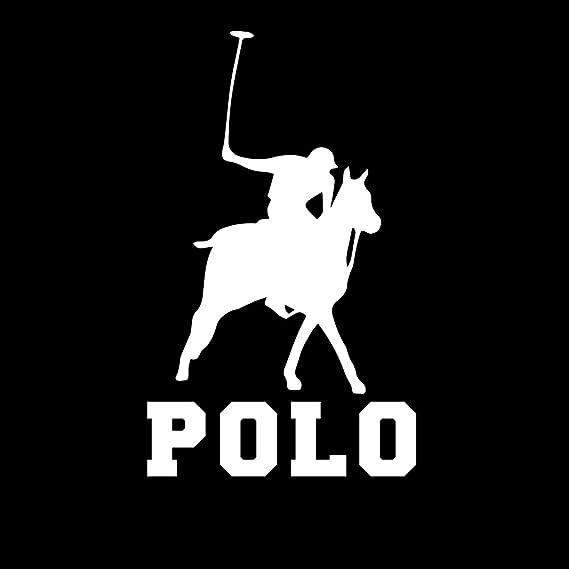 "Polo Sport Icon Horses Car Bumper Sticker Decal 5/"" x 5/"""