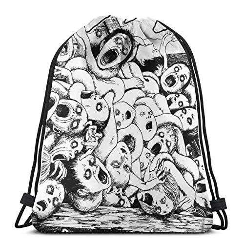 354 Cinch Bags Junji Ito Tomie Terror Manga Style Gym Sport Student Christmas Men Travel Women Drawstring Bag Storage Goodie Print Durable Cinch Bags Gift Casual Lightweight Backpack