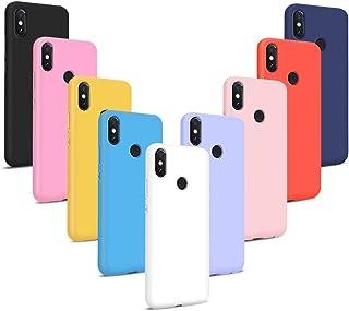 9X Fundas para Xiaomi Redmi S2, Carcasas Flexible Suave TPU Silicona Ultra Delgado Protección Caso(Rojo + Rosa Claro + Púrpura + Amarillo + Rosa Oscuro + Verde + Negro + Azul Oscuro)