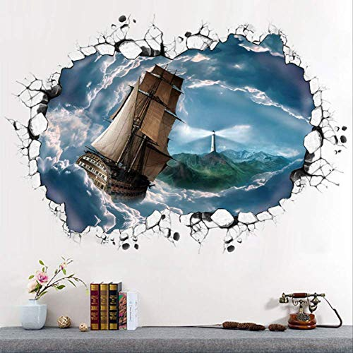 stickerzb Wandtattoo, Der Aufkleber Wolke Seenavigation Dekoration Wohnzimmer Schlafzimmer DIY Kunst Wandbild Bewegliche 60x90cm