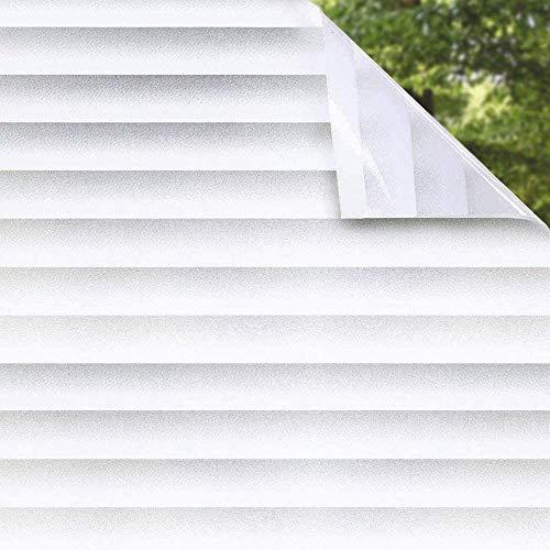 Shackcom Vinilo Película Cristal Ventana-44.5 x 200cm-Privacidad Pegatina sin Adhesivo - Decorativas...