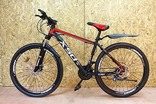 Bicicleta de montaña junior negra y roja 26'' rueda 21 velocidad marco de acero frenos de disco niños y niñas ZL