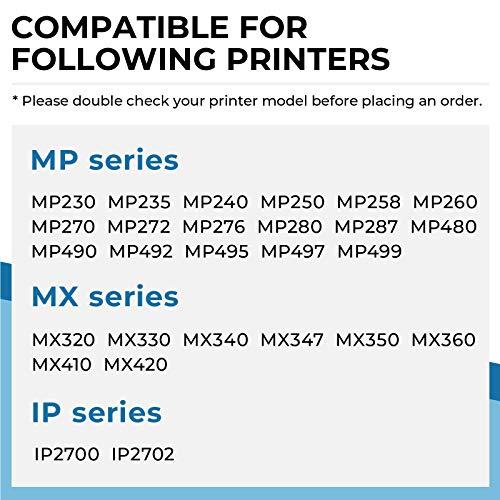 Penguin-Cartucho de Tinta Remanufacturado para Canon PG-512XL,CL-513XL 512 513 510 511 XL Compatible con Pixma MP270 MP230 MP280 MP490 MP495 MX340 MP250 MP480 MP499 MX320 Impresora (1 Negro, 1 Color)