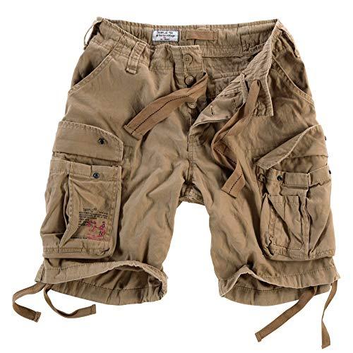 Surplus Raw Vintage Airborne Vintage Herren Cargo Shorts, beige, 5XL