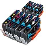 Hyggetech - 10 cartuchos de tinta para HP 364XL 364 XL para HP Deskject 3520, 3070A Photosmart 5510 5520 5524 7510 7520 6510 6520 5515 b110a b109a Officejet 46 20 46 22 C5390 C5393 C6324 C6380.