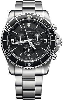 Victorinox - Maverick Reloj para Hombre Analógico de Cuarzo con Brazalete de Acero Inoxidable V241695