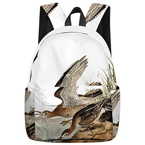 Student College Backpack,Shoulder Bookbags,Travel Backpack,Laptop Bag,Hand Painted Bartram Bird Pond Side (15.7x11.8x6.7in) Best Backpacks for Teen Boys and Girls