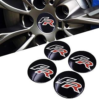 Tomeco Car Styling FR Wheel Hub Caps Stickers Emblem Badge Seat Ibiza 6L 6J Leon 1M