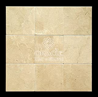 Crema Marfil 4X4 Marble Polished Tile