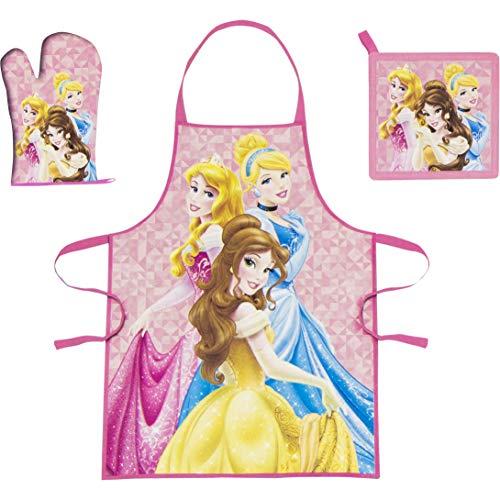 Set de cuisine pour enfant Princesse Disney tablier/gant/manique