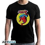 ABYstyle abystyleabytex415-xxl Marvel Spider Man Vintage Hombres de Manga Corta New...