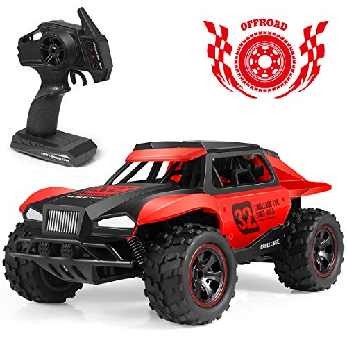 Remote Control Car, 2019 Updated 2.4 GHZ High Speed Racing Car with Rechargeable Batteries for Kid Toys for Boys Girls, Off Road RC Trucks Electric Toy Car for All Adults & Kids