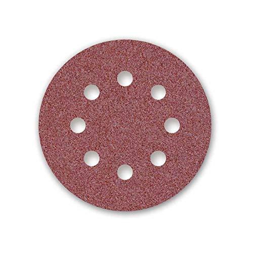 MENZER Red Klett-Schleifscheiben, 115 mm, 8-Loch, Korn 80, f. Exzenterschleifer, Normalkorund (50 Stk.)