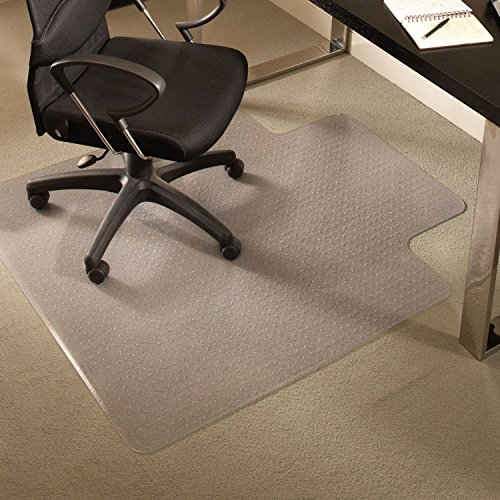 ES Robbins 122073 EverLife Chair Mats for Medium Pile Carpet with Lip, 36 x 48, Clear