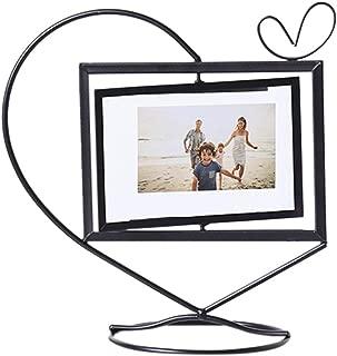 Shimigy Geometric Golden Metal Photo Frame Photo Storage Rotating Photo Frame