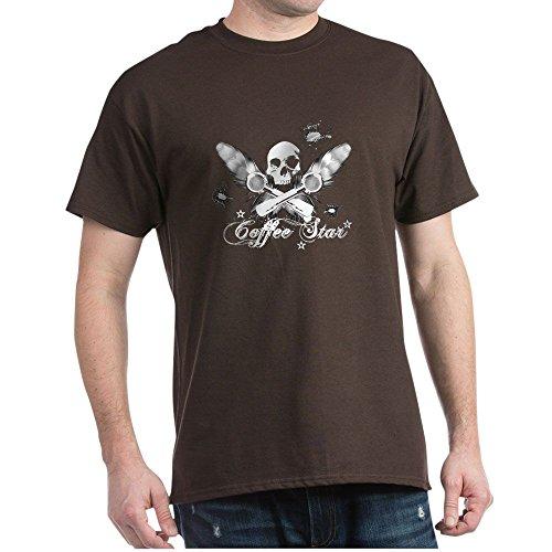 CafePress Herren-T-Shirt, Kaffeestern, 100 {527a9aac583e6a154a281862e1993f8e9d5ffe04834b26c8abf378e6cacbccf3} Baumwolle Gr. M, braun