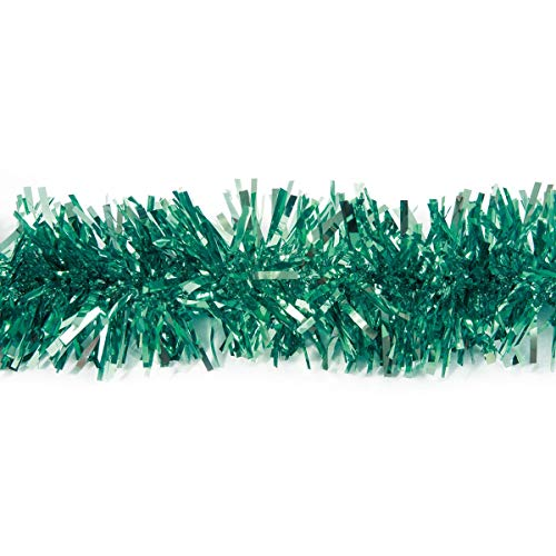 Anderson's Teal Metallic Twist Garland, 4 Inches x 25 Feet
