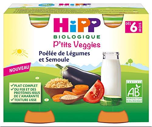 HiPP P'tits Veggies Gemüse-Pfanne für Gemüse ab 6 Monaten, Bio 2 Töpfe