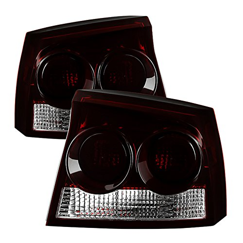 VIPMOTOZ Factory Style Tail Light Lamp For 2009-2010 Dodge Charger - Smoke Red Lens, Driver & Passenger Side