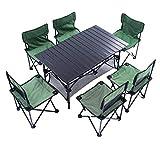 N/F Conjunt de taules i cadires Plegables a l'aire lliure 4 persones 6 persones Taules i cadires Plegables de diverses persones Barbacoa Equipament turístic de conducció autònoma Conjunt de cadires