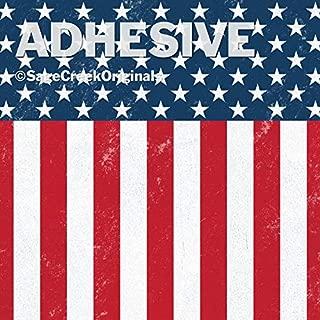 3-Pack Patriotic Flag Distressed Pattern Adhesive, 12